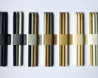 Set of 3 rolled paper pencils