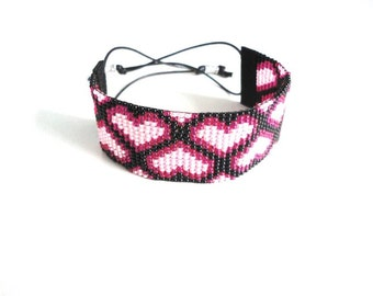 Woven beaded bracelet from Miyuki beads