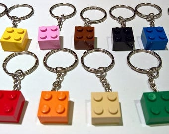 LEGO Brick 2x2 New Keychain / Keyring - Lots of Colours - Party Bag Wedding Fill