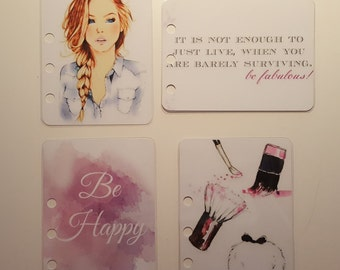 Journal cards for Filofax personal or A5 size