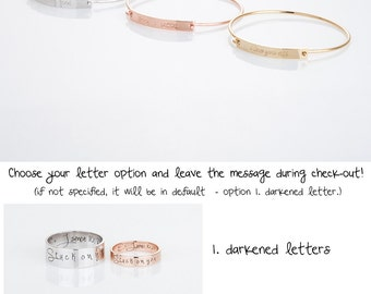 Custom Name Bangle Bracelet, Personalized Name Bangle, Custom Bracelet, Personalized Engraved Bracelet, Memorial Gift, Gift for her