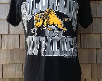 Vintage 80s/90s COLORADO BUFFALOES T Shirt - Medium - University - Soft Thin