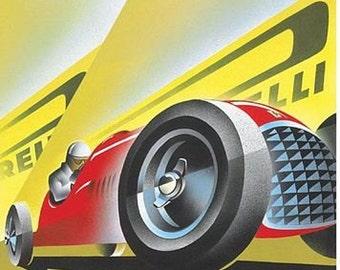 Vintage 1949 Italian Grand Prix Poster A3 Print