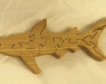 7 Piece Wooden Shark Puzzle
