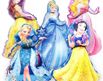 "37"" Princess Balloon Rapunzel/Belle/Snow White/Elsa/Cinderella/Party Decorations"