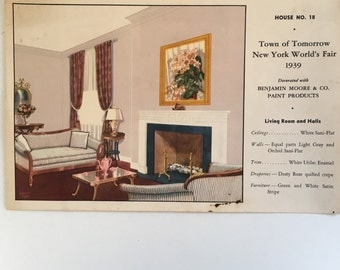 Advertising Piece-Benjamin Moore & Co Paint Products - New York World's Fair