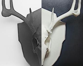 3D Printed Jackalope // Wolpertinger Skull Trophy Ornament