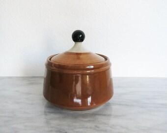 Vintage Fashion Manor Ceramic Sugar Bowl, Daisy Vale, Tea Storage, Tea Storage Box, Tea Bag Box, Housewarming Gift Stoneware Kitchen Storage