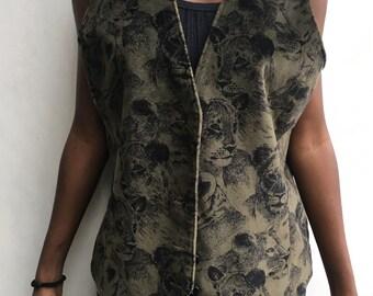 Vintage Lioness Velvet Vest