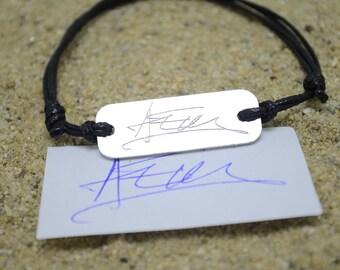 Handwriting Bracelet, Signature Bracelet, Handwriting Jewelry, Actual Handwriting, Custom Memorial Signature, Cyber Monday, Black Friday