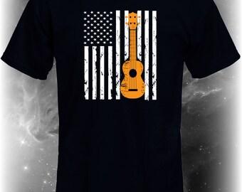 American Ukulele Shirt, ukulele t shirt, ukulele tee shirt, tee shirt ukulele, t shirt ukulele