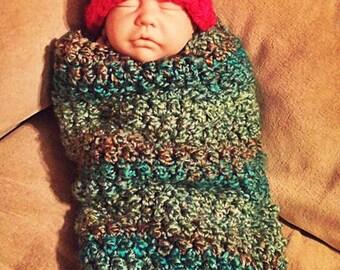 Caterpillar Baby Cocoon & Hat 0-3 months
