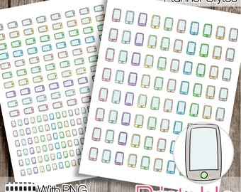 20% OFF - Hand Drawn Cell Phone Mobile Phone PRINTABLE Planner Stickers  Instant Digital Download