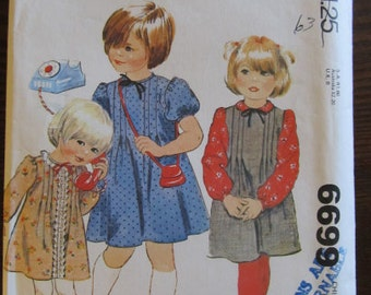 1979 - McCall's Pattern 6699 -- Size 6 - Children Dress or Jumper and Blouse