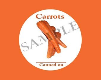 Carrots Round Canning Label #L364