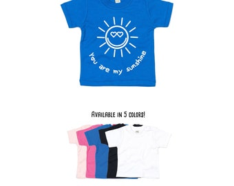 You are my sunshine shirt, baby shirt, positive shirt, cute shirt, happy shirt, sun shirt, sunshine shirt, hearts shirt, love shirt, gift