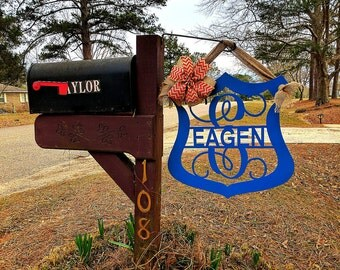 Law Enforcement, Police Gifts, Mailbox Decor, Yard sign, Police Wife, Garden Sign, Police Officer Gifts, Fathers day gifts, Policeman gifts