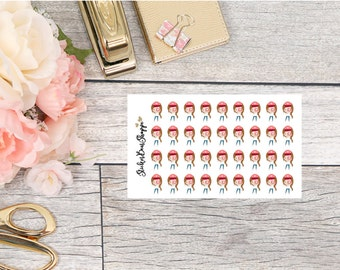 Cute Girl With Camera Planner Stickers - For Erin Condren Life Planner or Happy Planner