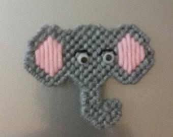 Plastic Canvas Elephant Magnet
