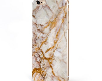iPhone - Samsung Galaxy - TPU Soft Rubber Cell Phone Case - Brown Marble - High quality Soft Silicon-Designed and Printed in USA