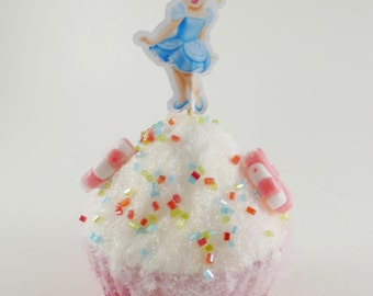 Princess Cinderella  cupcake picks, Baby Cinderella cupcake topper double sided, Birthday cupcake picks, Favor birthday