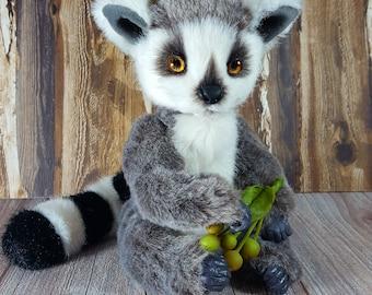 Soft toy handmade Teddy Lemur Viki