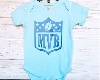 Most Valuable Baby Bodysuit - Custom Baby Bodysuit - Sport One-piece - Baby Shower Gift - Football Infant Bodysuit - Custom Sport One-piece