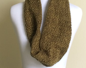 Green Knitted Cowl Scarf Great Gift for Her or Him or Mom