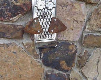 Upcycled Owl Windchime