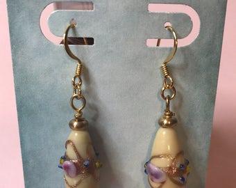 Lamp-worked Bead Earrings