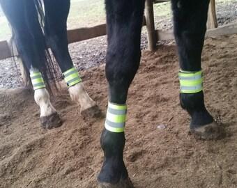 Reflective Trail Riding Leg Wraps (Set of 4)