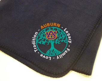 AUBURN Toomer's Corner Oak Trees fleece blanket - great for tailgating, great for gifts!