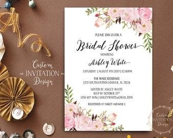 Bridal shower invitation rustic, Bridal shower invitation, bridal shower invites, Bridal Shower Printable - US_BI0303c