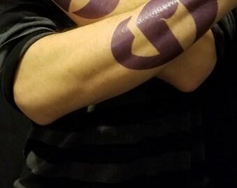 Guzma Team Skull Temporary Tattoos