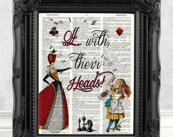 Alice in Wonderland Print Alice in Wonderland Wall Art Alice in Wonderland Quote Alice in Wonderland Decor Alice in Wonderland Party  146