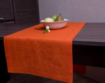 Attractive Orange Runner, Orange Table Runner, Halloween Decor, Table Cloth, Orange  Table Decor