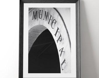 Kitchen Art, Market, Spain Photo, Municipal, Kitchen, Spanish wall decor, Black & White, Market Photography, Spanish Market