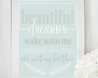 Beautiful Dreamer Nursery Printable & Graphic