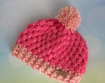Baby Beanie Hat - Pink Girl 3 - 6 months