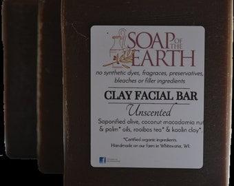CLAY FACIAL BAR-Unscented