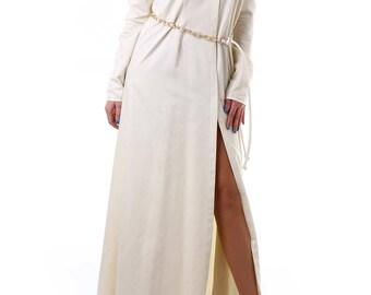Ivory tunic, long tunic, long shirt, shirt dress, cold shoulder dress/shirt, cut out shoulder shirt, cut out back shirt, spring blouse
