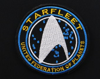 Star Trek Beyond Starfleet United Federation of Planets Halloween Costume Embroidery Patch  Apparel Movie Hat patches
