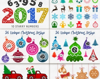 Christmas Svg Cut Files Svg Christmas Bundle Cricut Monogram Dxf Silhouette download Heat Press Transfer Iron on vinyl design cliparts htv