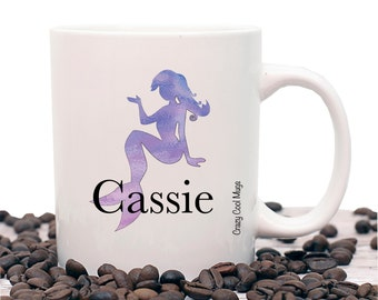 Mermaid Custom Personalized Mermaid Coffee Mug