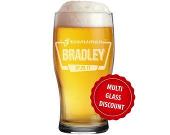 Personalized Beer Mug, Groomsman Gift, Groomsmen Beer Glasses, Groomsmen Beer Mug, Custom Beer Glass, Engraved Beer Mug, Pub Glasses