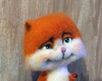 Kitten Zhorik. felting toy (Kitten Zhorik. Felted toy)