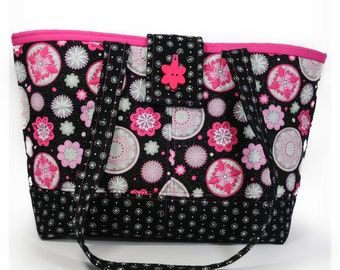 Pink and Black Shoulder Bag