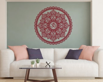 Lotus flower mur vinyle autocollant lotus fleur stickers for Chambre yoga