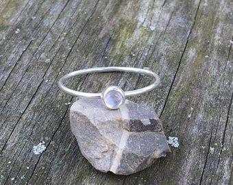 MOONSTONE STACKER, Handmade, Sterling Silver, Made To Order