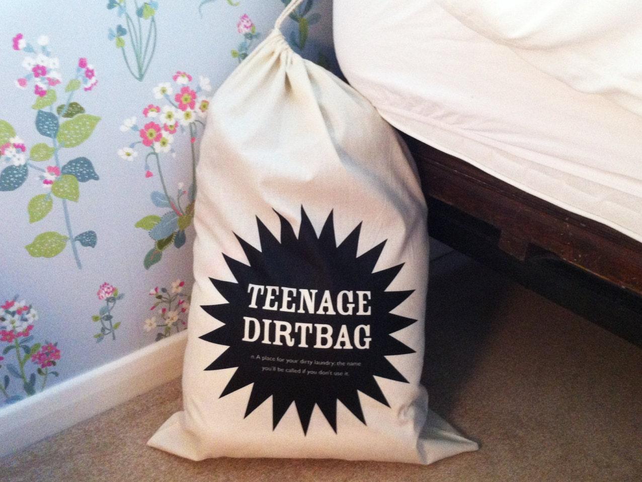 Teenage Dirtbag Drawstring Laundry Bag Teenager Gift